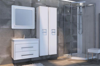 Обзор новинки: мебель для ванной комнаты Geneva (Женева) Ювента