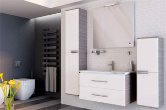 Обзор мебели для ванной комнаты Ювента