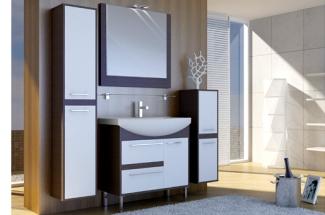 Мебель для ванной комнаты в цвете Венге