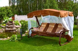 Обзор садовых качелей Olsa Беларусь