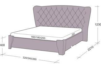 Стандартные размеры двухспальных кроватей и их особенности