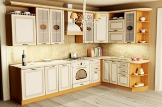 Классическая готовая мебель для кухни