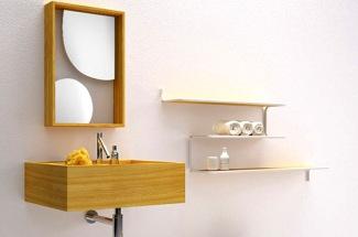 Коллекция мебели для ванной комнаты Nendo от Bisazza Bagno.