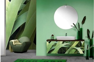 Модно и оригинально - лазерный рисунок на мебели для ванной