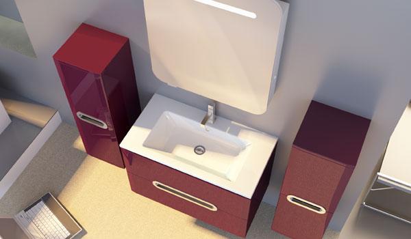Комплект мебели для ванной Prato Ювента