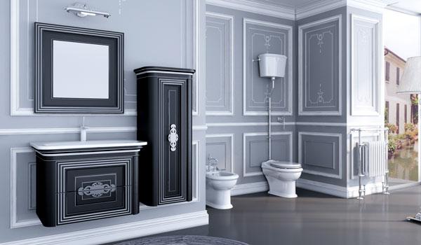 Комплект мебели для ванной Treviso Botticelli черная