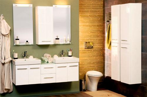 Мебель для ванной комнаты уютная и красивая