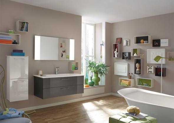 Навесная мебель для ванной комнаты. Удобно, практично организуем пространство.