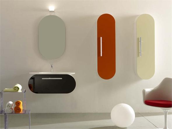 Ванная комната в стиле хай тек. Мебель для ванной комнаты.