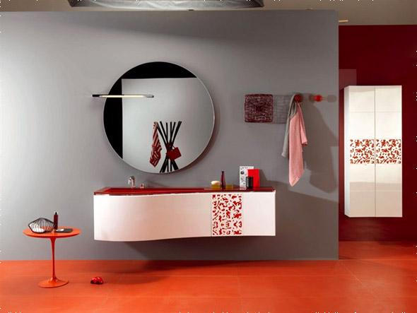 Навесная мебель для ванной комнаты.