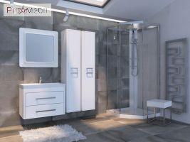 Пенал в ванную комнату GnP-170 Geneva Ювента