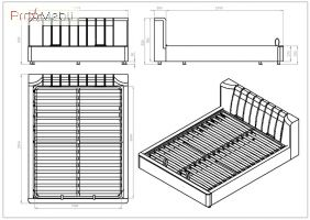 Кровать Релакс 160 коричневая Embawood
