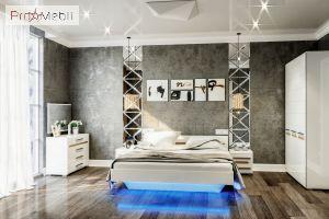 Кровать полуторная Бьянко Світ Меблів