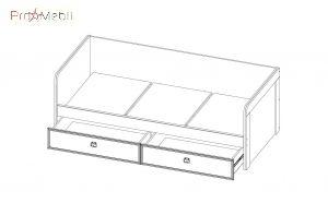 Кровать Magellan 2s/90 Mebel Bos