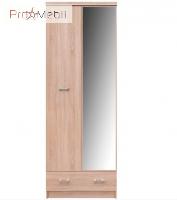Шкаф с зеркалом Топ Микс дуб сонома SZF 2D1S 60 VMV
