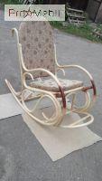 Кресло-качалка Олимп с подножкой из ротанга