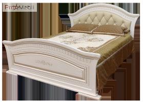 Кровать 2-сп 1,8 мягким изголовьем Николь Світ Меблів
