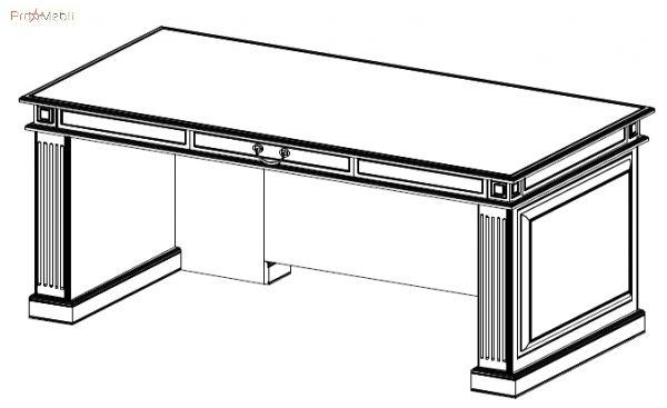 Стол руководителя L2 22-101 кабинет Классик Салита