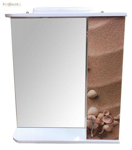 Зеркало в ванную комнату З-01 рисунок Море №1 60 см правое МВК