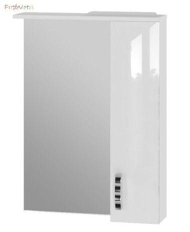 Зеркальный шкаф в ванную комнату TrnMC-60 правый Trento белый Ювента