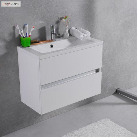 Тумба для ванной с умывальником подвесная Rodos 70 Fancy Marble