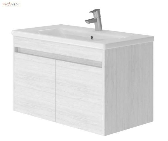 Тумба для ванной с умывальником Rv-80 premium white Ravenna Ювента