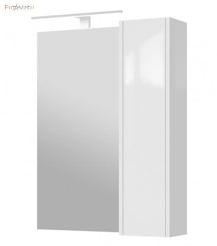 Зеркальный шкаф в ванную комнату BrxMC-65 белый Bronx Ювента