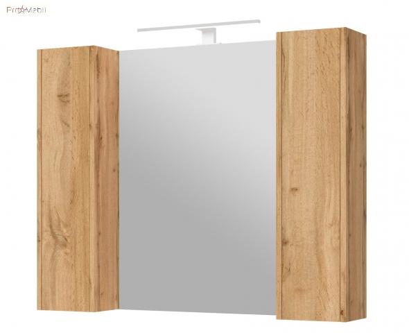 Зеркальный шкаф в ванную комнату BrxMC-100 дуб вотан Bronx Ювента