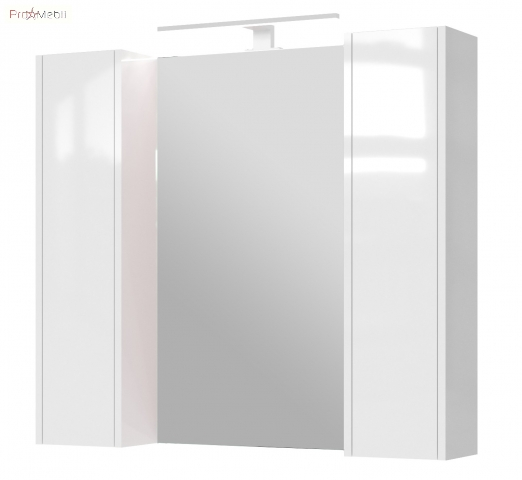 Зеркальный шкаф в ванную комнату BrxMC-90 белый Bronx Ювента