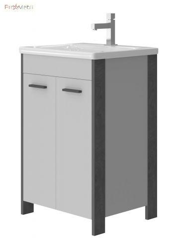 Тумба для ванной с умывальником Br-55 Brooklyn серая Ювента