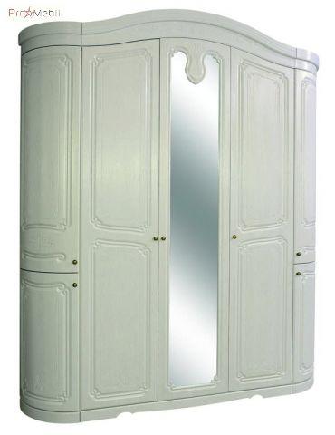 Шкаф 5Д белое золото Луиза Світ Меблів
