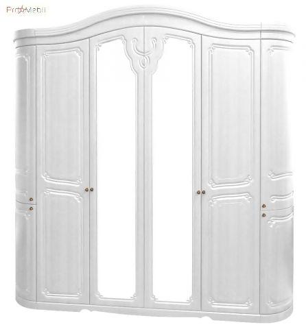 Шкаф 6Д белое золото Луиза Світ Меблів