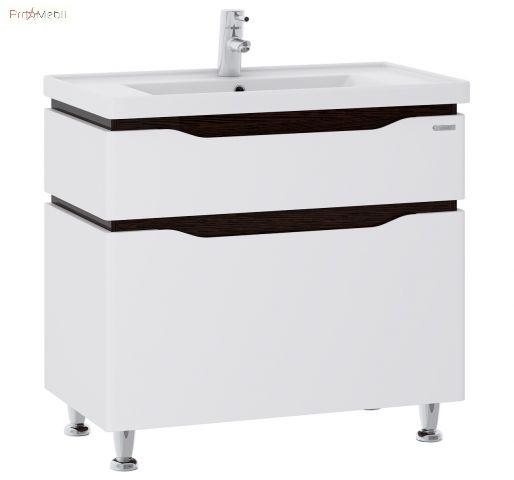 Тумба для ванной с умывальником 60 Alessa венге Канте Sanwerk