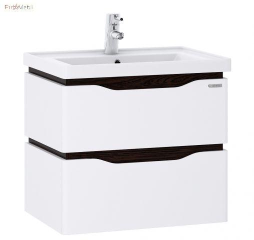 Тумба для ванной с умывальником 70 Alessa Air венге Канте Sanwerk