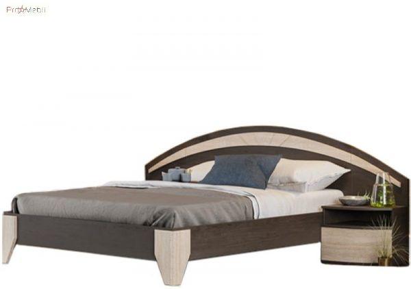 Кровать с двумя прикроватными тумбами Эмма венге LasCavo