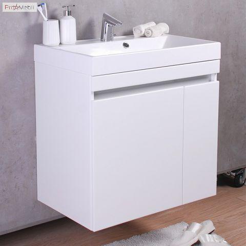 Тумба для ванной с умывальником подвесная Sheldon 700 Signe Fancy Marble