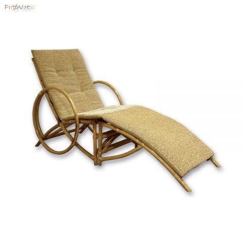 Кресло Маями с подставкой из ротанга