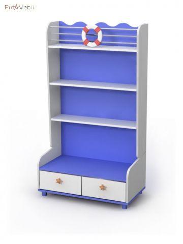 Книжный шкаф Oc-04-3 Ocean Briz