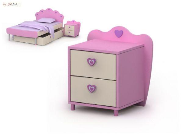 Тумба к кровати Pn-14-2 Pink Briz