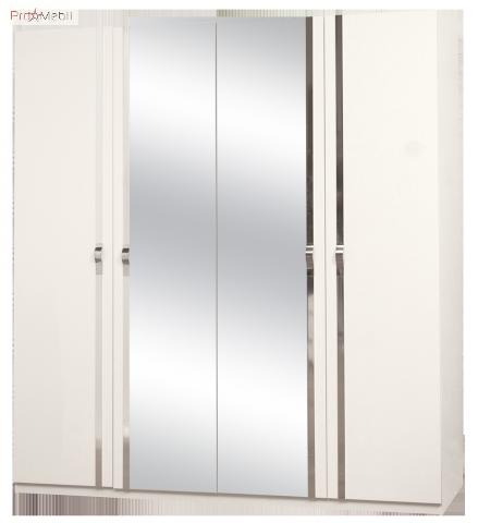 Шкаф 4Д Экстаза белая Світ Меблів
