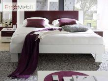 Кровать Vera лиловая 160 51 с двумя прикроватными тумбами Helvetia