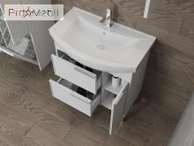Тумба для ванной с умывальником Sf-85 белая Sofia Ювента