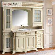 Стенка (портал) для ванной Людовик gold Ольвия