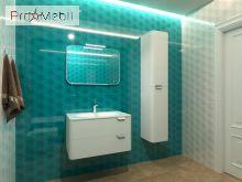 Пенал в ванную комнату VltP-120 белый Velluto Botticelli