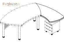 Приставной элемент 18-105 к столу 18-101 кабинет Evolution Салита