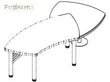 Брифинг приставка угловая 18-111 к столу 18-101 кабинет Evolution Салита