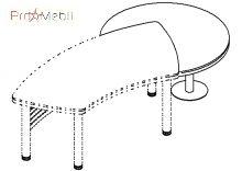 Брифинг приставка угловая 18-114 к столу 18-102 кабинет Evolution Салита