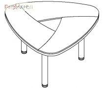 Конференц стол 18-116 кабинет Evolution Салита