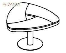 Журнальный стол 18-117 кабинет Evolution Салита