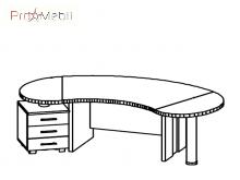 Стол руководителя 2 Гранд Салита